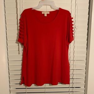 Red MK blouse